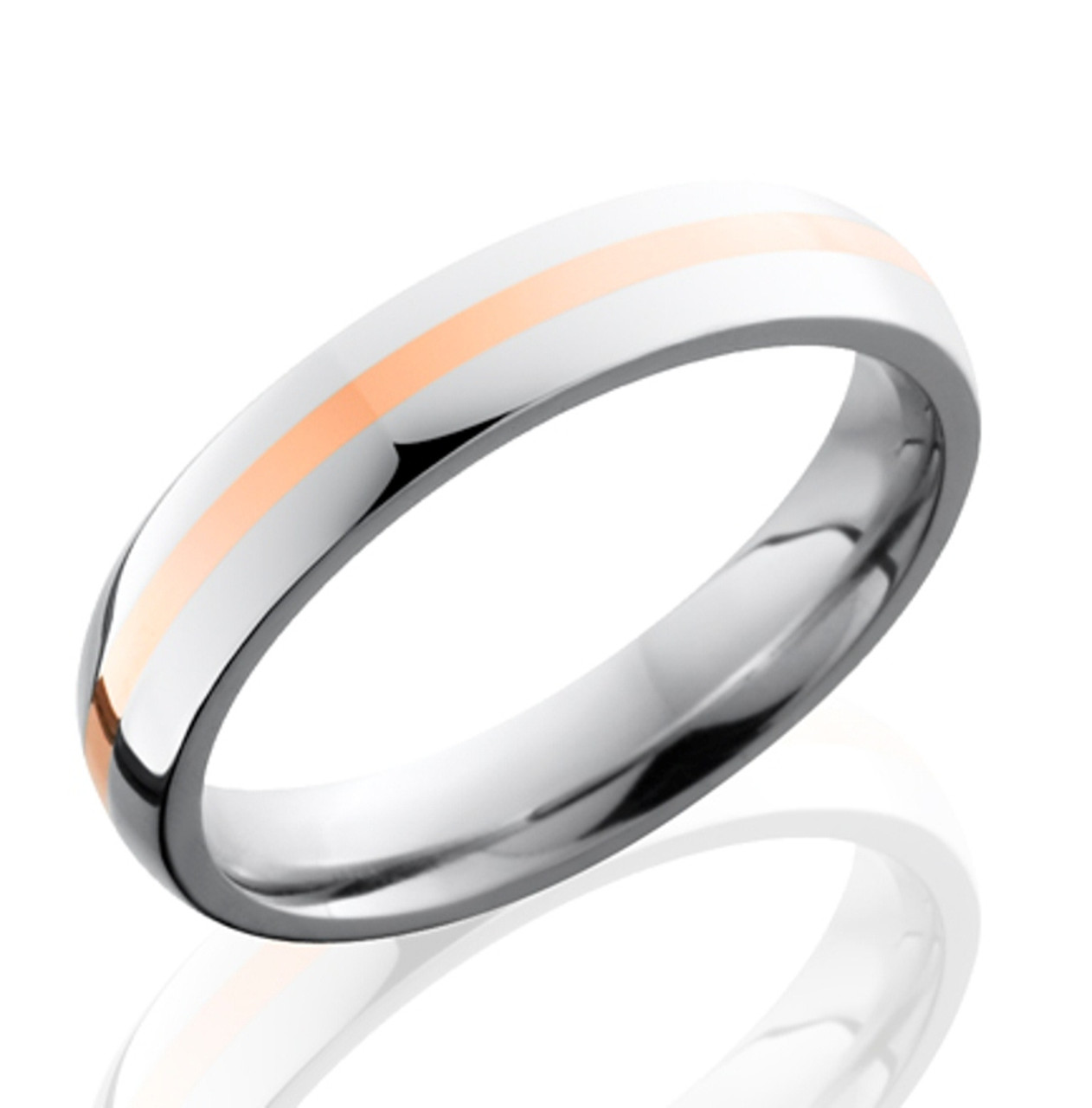 Narrow Gold Cobalt Wedding Band Cobalt Wedding Rings TitaniumBuzz