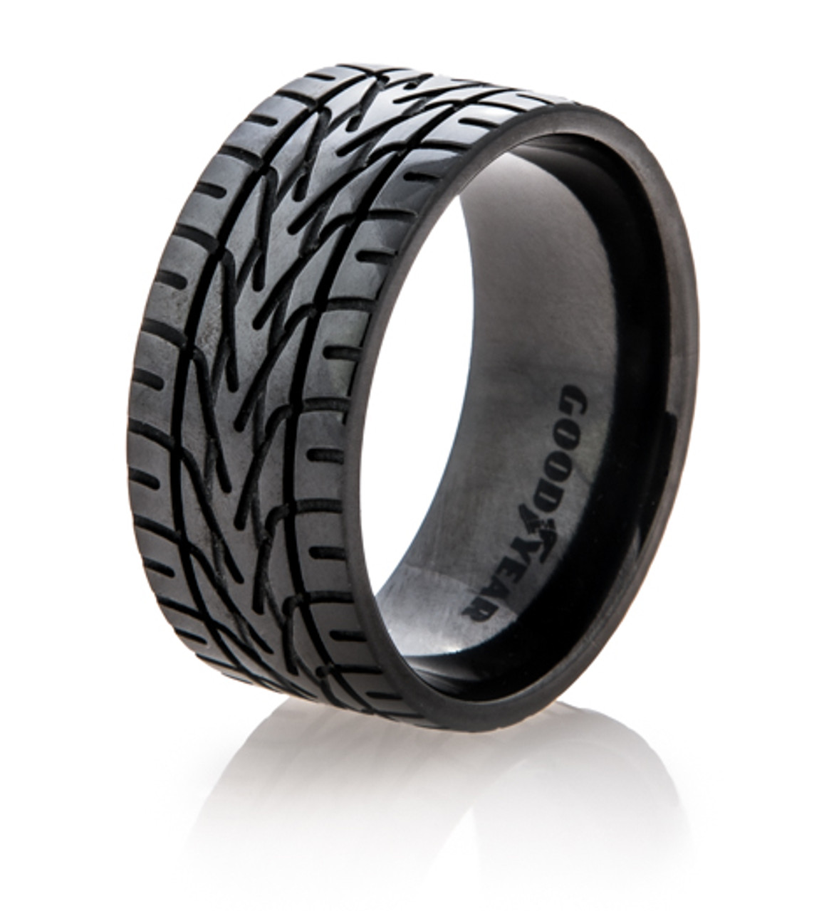 Men S Black Goodyear Nascar Tire Tread Ring