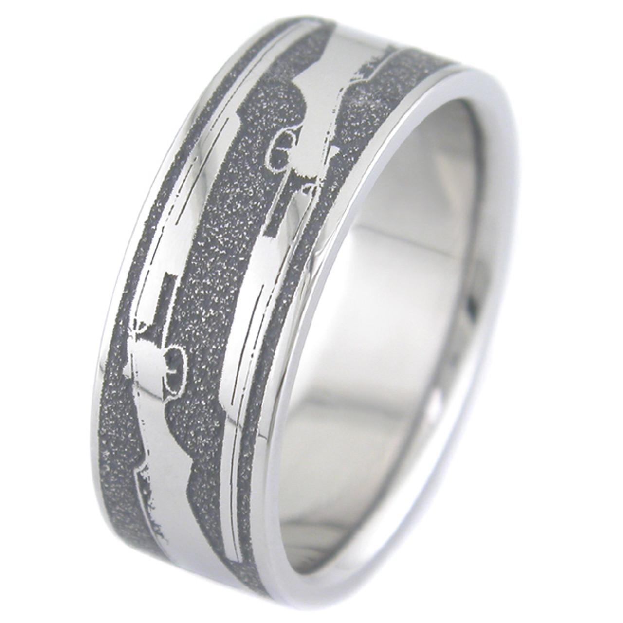 The Shotgun Wedding Ring Unique Titanium Rings More TitaniumBuzz