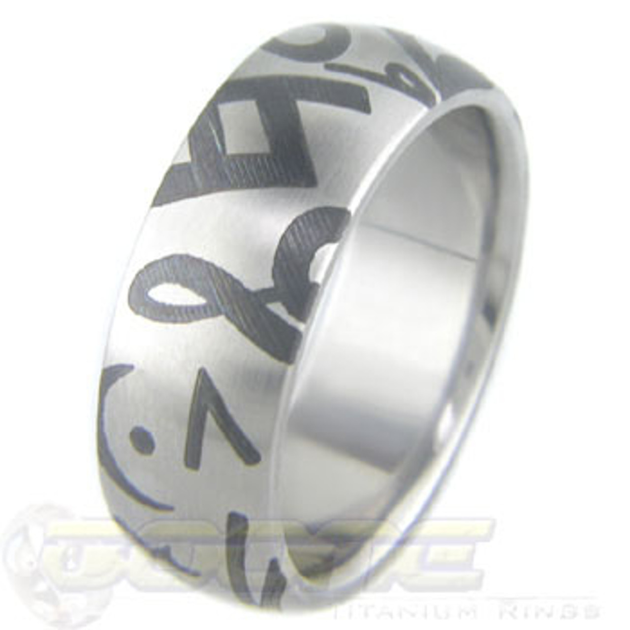 Titanium Music Ring Laser Cut Music Note Rings By Titanium Buzz