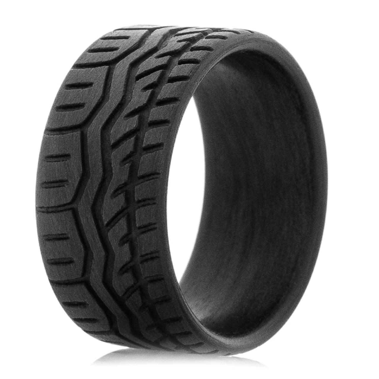 Men S Carbon Fiber Drift Tire Wedding Band