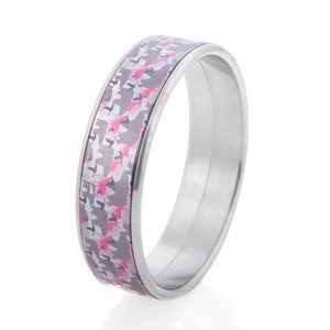 Women's Animal Camo Pink Bangle Bracelet