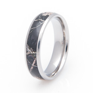 Titanium Realtree® AP Black Camo Wedding Band