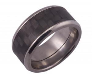 Carbon Fiber Ring w/ Beveled Edges