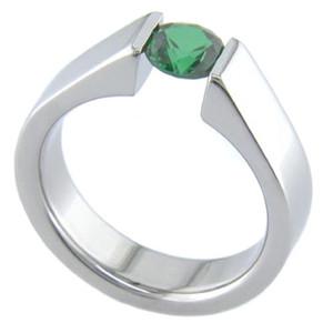 Women's Titanium Balanced Tension Set Ring