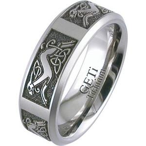 Laser Engraved Celtic Animal Ring