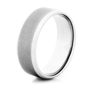 Men's Gunmetal Titanium Wedding Ring- 8mm width Polished Edge