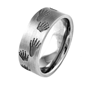 Men's Titanium Coon Tracks Ring
