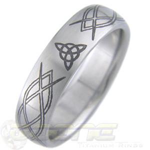Laser Engraved Custom Titanium Ring