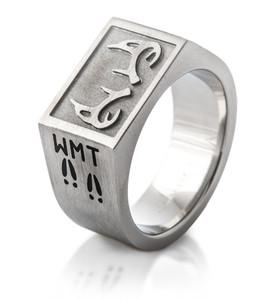 Men's Titanium Deer Antler Signet Ring