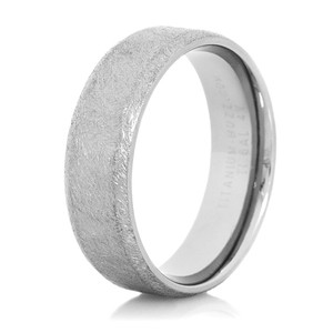 Men's Beveled Gunmetal Titanium Western Wedding Band