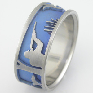 Men's Titanium Duck Hunt Ring