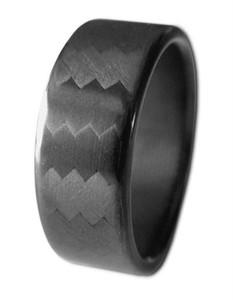 Carbon Fiber Ring Four 4 Four Polished