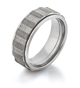 Men's Titanium Spinning Gear Ring