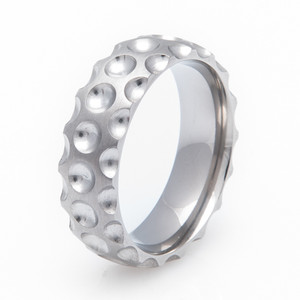Men's Titanium Golf Wedding Ring