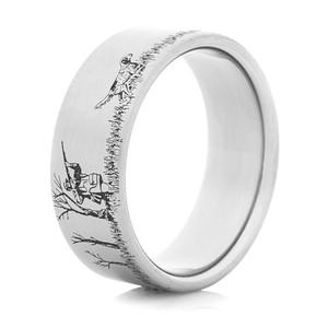 Men's Titanium Grouse Hunter Ring