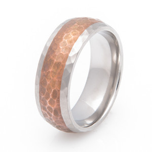 Hammered Copper Band