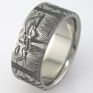 Men's Titanium Hunter's Paradise Ring