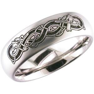 Laser Engraved Celtic Ring