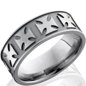 Titanium Maltese Cross Ring