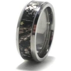 Men's Titanium Mossy Oak Break-Up Camo Wedding Ring