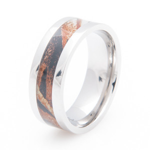 Men's Titanium Mossy Oak Shadowgrass Camo Ring