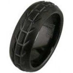 Men's Black Motorcycle Wedding Ring