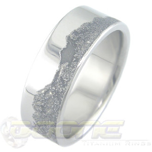 Men's Titanium Mountain Range Ring