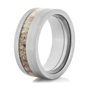 Offset Deer Antler Ring
