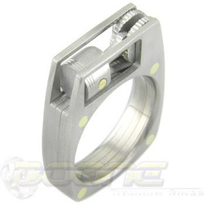 Mens Titanium Wrench Wedding Ring TitaniumBuzz