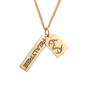 Realtree Tag Style Necklace- Gold