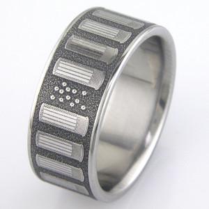Men's Titanium Shotgun Shell Ring