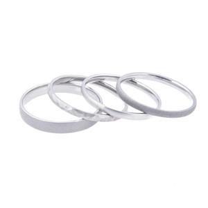 Stackable Titanium Rings, Set of Three