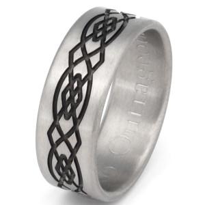 Titanium Celtic Knots Ring