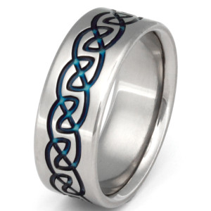 Titanium Celtic Infinity Knot Ring