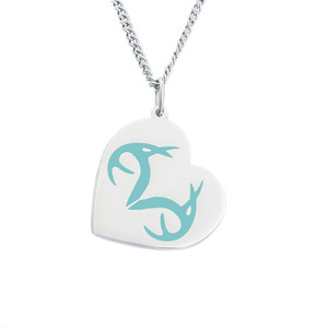 Women's Realtree Heart Turquoise Pendant Necklace