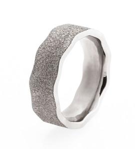 Men's Titanium Beaten Path Ring