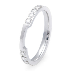 Women's Cobalt Box-Style Wedding Band