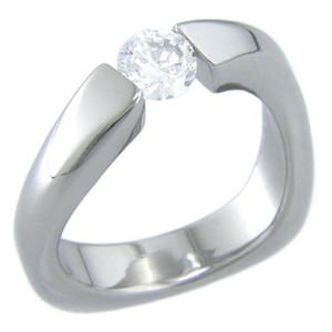 Women's Twisted Titanium Tension Set Ring