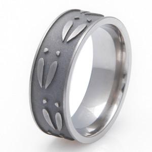 Men's Titanium Ultimate Deer Track Ring