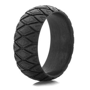 Men's Matte Diamondback Carbon Fiber Ring