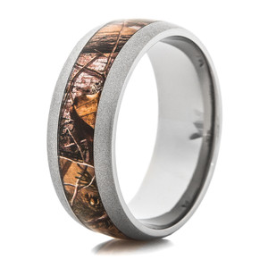 Men's Beadblasted Titanium Realtree® APG Camo Ring