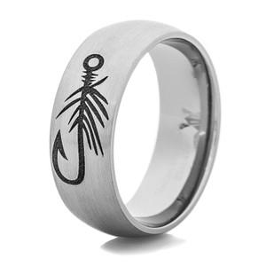 Men's Titanium Fly Hook Fishing Ring