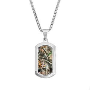Men's Stainless Steel Realtree AP Dog Tag Necklace