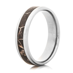 Men's Titanium Realtree® AP Black Camo Ring