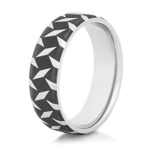 Men's Cobalt Black Strikeplate Ring