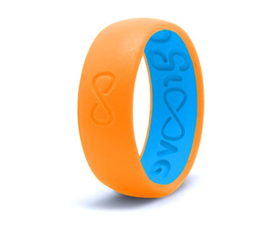 Blaze Orange Groove Original Silicone Ring