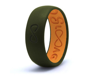 GROOVE ORIGINAL SILICONE RING - MOSS GREEN
