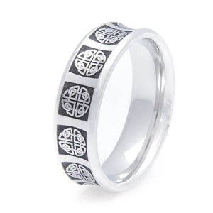Men's Cobalt Chrome Concave Celtic Ring