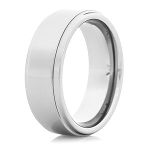 Men's Step-Down Tungsten Wedding Band